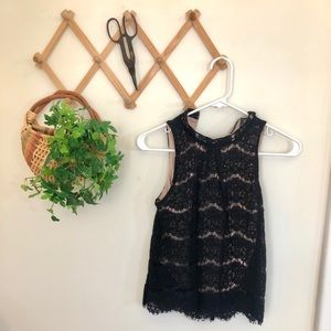 Classic High Neck Lace Blouse